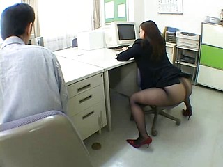 Japanese office girl drives me crazy by...